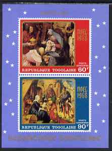 Togo 1978 Christmas - Paintings imperf m/sheet unmounted mint SG MS 627