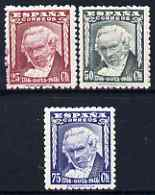 Spain 1946 Birth Bicentenary of Goya perf set of 3 unmounted mint SG 1073-5