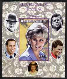 Senegal 1998 Princess Diana 250f imperf m/sheet #11 unmounted mint. Note this item is privately produced and is offered purely on its thematic appeal, it has no postal validity