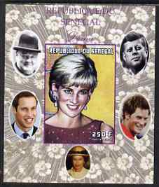Senegal 1998 Princess Diana 250f imperf m/sheet #15 unmounted mint. Note this item is privately produced and is offered purely on its thematic appeal, it has no postal validity