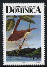 Dominica 1989-91 Birds $1 Brown Trembler with 1989 imprint date unmounted mint SG 1251