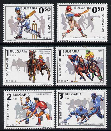 Bulgaria 1992 Sport set of 6 unmounted mint, SG 3886-91, Mi 4026-31