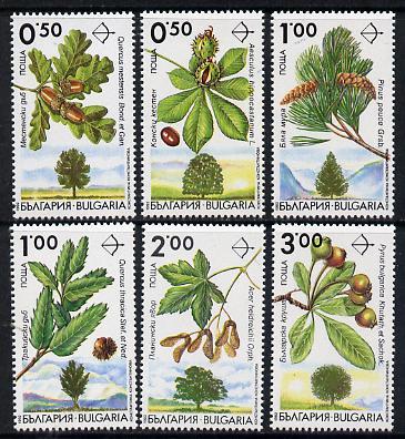 Bulgaria 1992 Trees set of 6 unmounted mint, Mi 4001-06