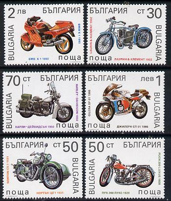 Bulgaria 1992 Motor Cycles set of 6 unmounted mint, SG 3845-50, Mi 3991-96*