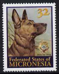 Micronesia 1996 Reza (Police Drug Enforcement Unit's Dog) unmounted mint, SG 509