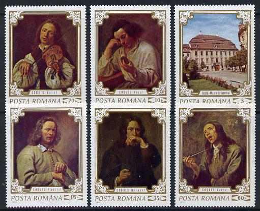 Rumania 1970 Paintings from Bruckenthal Museum set of 6 (The Five Senses - Coques) unmounted mint, SG3779-84, Mi 2897-2902