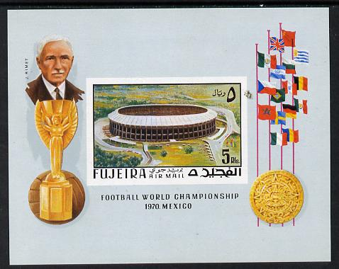 Fujeira 1970 World Cup Football imperf m/sheet unmounted mint, Mi BL 27B