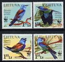 Lithuania 2008 WWF - European Roller perf set of 4 unmounted mint