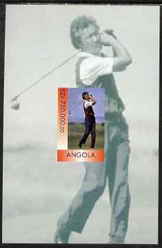 Angola 1999 Aoki (Japanese Golfer) imperf souvenir sheet unmounted mint