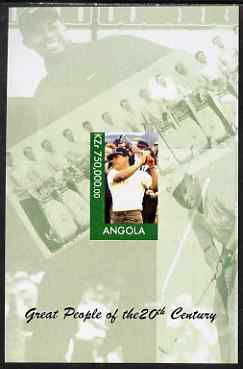 Angola 1999 Great People of the 20th Century - Lee Trevino (Golfer) imperf souvenir sheet unmounted mint. Note this item is privately produced and is offered purely on it...