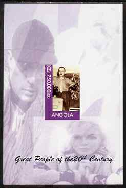 Angola 1999 Great People of the 20th Century - Walt Disney imperf souvenir sheet (Marilyn & Babe Ruth in margin) unmounted mint