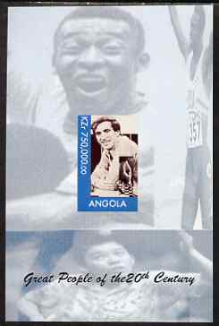 Angola 1999 Great People of the 20th Century - Bobby Fischer imperf souvenir sheet (Table Tennis in background) unmounted mint. Note this item is privately produced and is offered purely on its thematic appeal