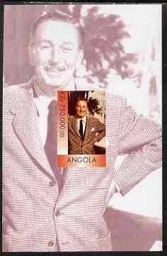 Angola 1999 Walt Disney imperf souvenir sheet unmounted mint