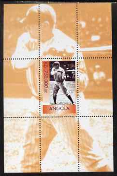 Angola 1999 Babe Ruth perf s/sheet unmounted mint