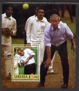 Liberia 2006 President Bush Playing Cricket perf m/sheet unmounted mint