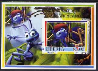 Liberia 2005 50th Anniversary of Disneyland overprint on Bugs life imperf m/sheet #3 unmounted mint