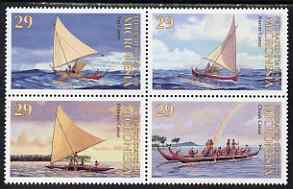 Micronesia 1993 Traditional Canoes se-tenant block of 4 unmounted mint, SG 314-7