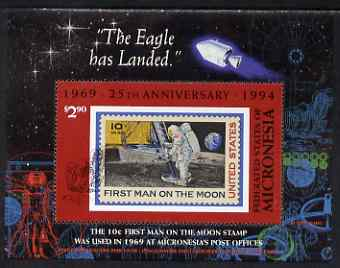 Micronesia 1994 25th Anniversary of First Manned Moon Landing perf m/sheet unmounted mint SG MS391