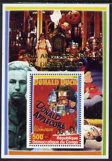 Congo 2005 50th Anniversary of Disneyland overprint on Disney Movie Posters - Donald Duck perf souvenir sheet unmounted mint