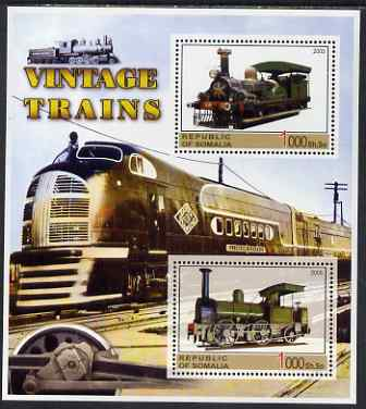 Somalia 2005 Vintage Trains #2 perf sheetlet containing 2 values unmounted mint