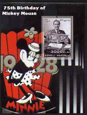 Somalia 2003 75th Birthday of Mickey Mouse #7 - Disney & Minnie Mouse perf s/sheet unmounted mint