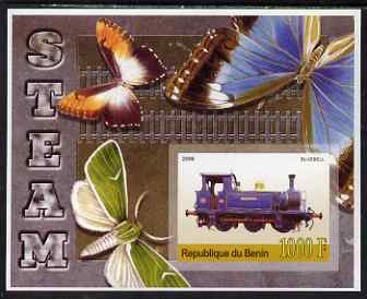 Benin 2006 Early Steam Locos #3 (Bluebell) imperf m/sheet with Butterflies in background unmounted mint. Note this item is privately produced and is offered purely on its thematic appeal