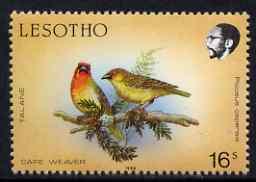 Lesotho 1988 Birds 16s Cape Weaver unmounted mint, SG 796*