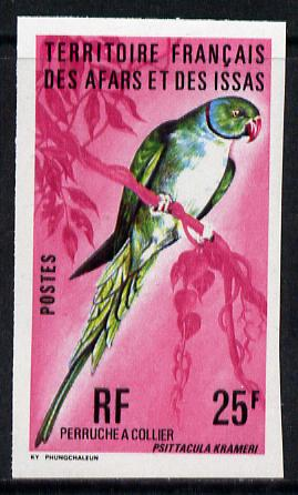 French Afars & Issas 1975 Birds 25f (Rose-Ringed Parakeet) imperf from limited printing unmounted mint, as SG 649*