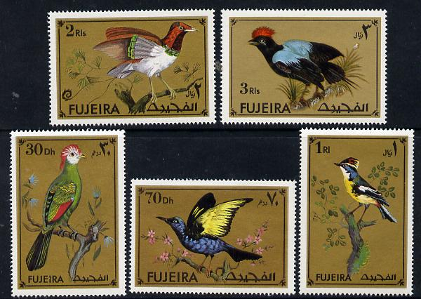 Fujeira 1972 Exotic Birds set of 5 unmounted mint (Mi 852-56A)