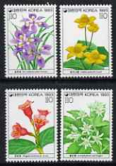 South Korea 1993 Wild Flowers (4th series) perf set of 4 unmounted mint, SG 2082-5
