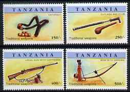Tanzania 1998 Traditional Weapons perf set of 4 unmounted mint SG 2132-5
