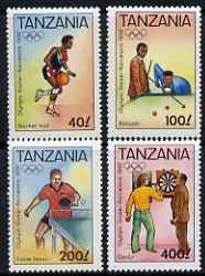Tanzania 1992 Barcelona Olympic Games (2nd issue) perf set of 4 unmounted mint, SG 1309-12