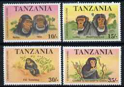 Tanzania 1992 Chimpanzees of the Gombe perf set of 4 unmounted mint, SG 1283-6