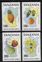 Tanzania 1996 East African Fruit perf set of 4 unmounted mint, SG 2089-92