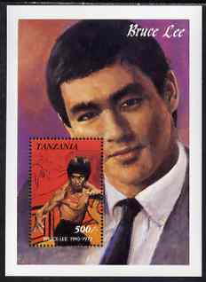 Tanzania 1992 Entertainers - Bruce Lee 500s perf m/sheet unmounted mint, SG MS 1135a