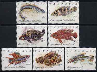 Tanzania 1992 Fishes perf set of 7 unmounted mint, SG 1136-42