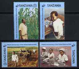 Tanzania 1995 50th Anniversary of UN Food & Agriculture Organisation perf set of 4 unmounted mint SG 2064-7