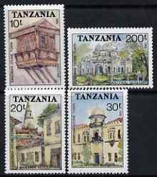 Tanzania 1992 Zanzibar Stone Town perf set of 4 unmounted mint SG 1273-6