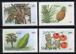 Tanzania 1995 Fruit perf set of 4 unmounted mint SG 2059-62
