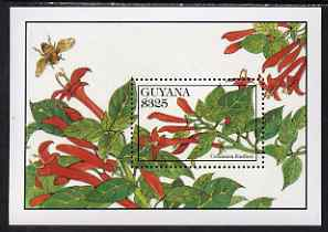 Guyana 1994 Flowers $325 perf m/sheet (Columnea fendleri) unmounted mint, SG MS 3910b