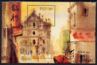 Macao 1997 Paintings by Kwok perf m/sheet unmounted mint SG MS978