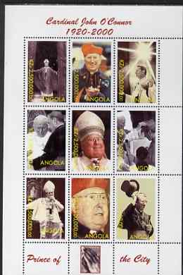 Angola 2000 Cardinal John O'Connor perf sheetlet containing set of 9 values unmounted mint