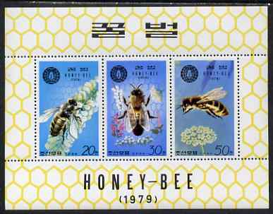 North Korea 1979 The Honey Bee perf sheetlet comprising the set of 3 unmounted mint, as SG N1928-30