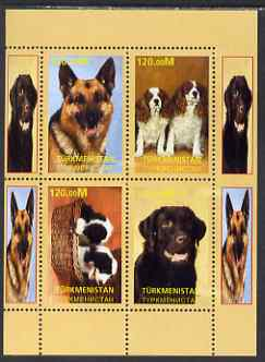 Turkmenistan 2000 Dogs perf sheetlet containing complete set of 4 values unmounted mint. Note this item is privately produced and is offered purely on its thematic appeal