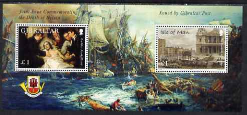 Gibraltar & Isle of Man 2005 Joint Issue Bicentenary of Battle of Trafalgar perf sheetlet unmounted mint, SG MS 1145