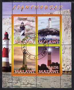 Malawi 2008 Lighthouses perf sheetlet containing 4 values fine cto used