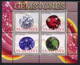 Malawi 2008 Gemstones perf sheetlet containing 4 values unmounted mint
