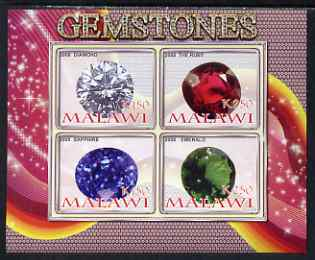 Malawi 2008 Gemstones imperf sheetlet containing 4 values unmounted mint