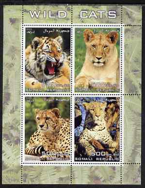 Somalia 2005 Wild Cats perf sheetlet containing 4 values unmounted mint