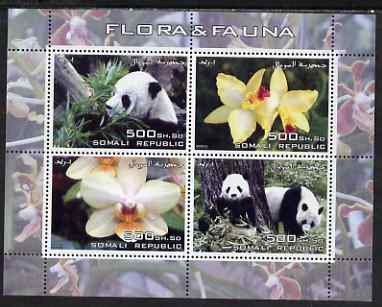 Somalia 2005 Flora & Fauna perf sheetlet containing 4 values unmounted mint